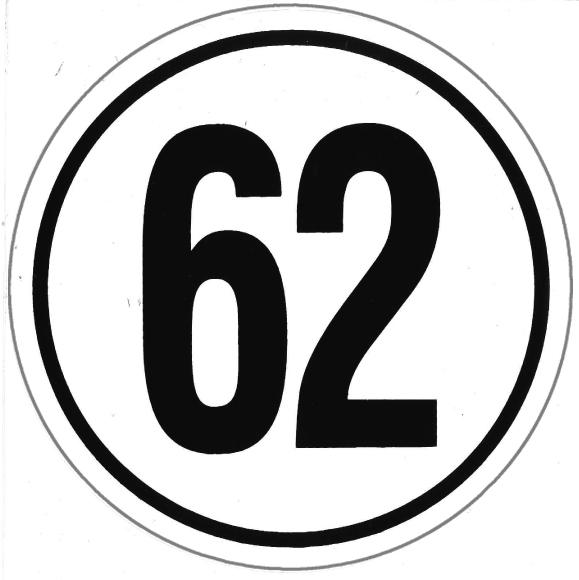 Speed limit Germany 5021/62 5021/62/PVC